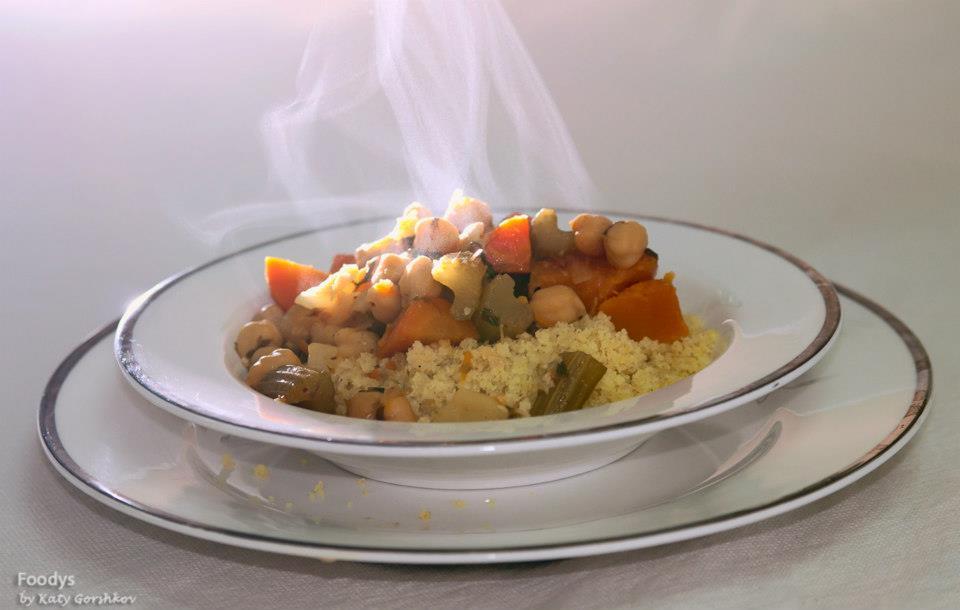Кускус с овощным супом
