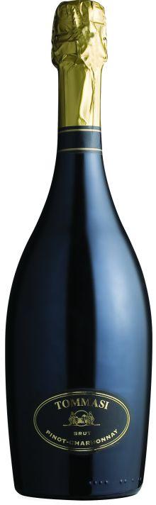 Итальянское вино: Пино Шардоне, Брют, Томмаси, Венето, Италия