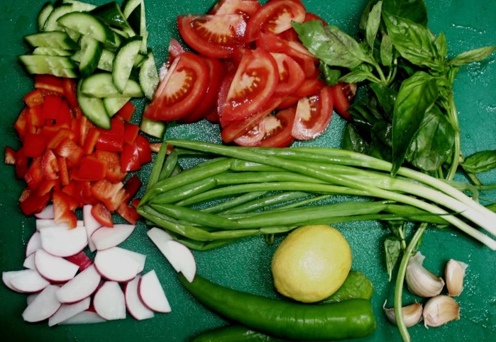 Ингредиенты для рецепта салата с осьминогом