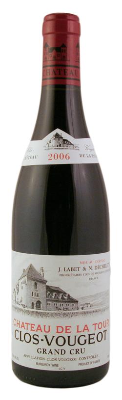 Французское вино, Кло Вожо, Гран Кру, Шато де ла Тур, 2009, Бургундия, Франция