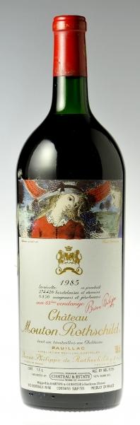 Французское вино, Chateau Mouton Rotschild, 1985, 1er Grand Cru Classe, Pauillac, Бордо, Франция