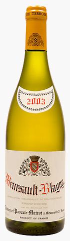Французское вино, Meursault, Blagny, 1er cru, 2004, Domaine Thierry et Pascale Matrot, Бургундия, Франция