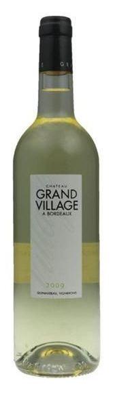 Французское вино, Château Grand Village, Blanc, 2009, Bordeaux Superieur, Бордо, Франция