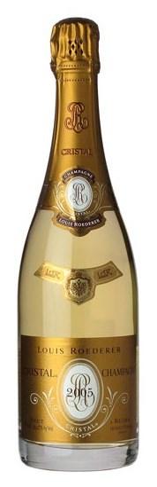 Французское вино, Шампанское, Кристал, Брют, Cristal, Brut, 2005, Louis Roederer, Шампань, Франция