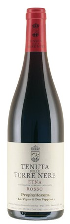 Итальянское вино, Prephylloxera, The vineyard of Don Peppino, 2010, Etna, DOC, Tenuta delle Terre Nere, Сицилия, Италия