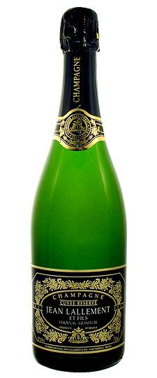 Французское вино, Cuvée Reserve, Verzenay, Grand Cru, NV, 2007, Jean Lallement et Fils, Шампань, Франция