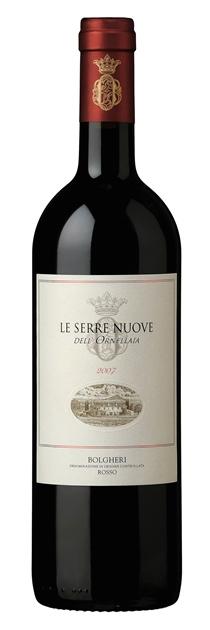 Итальянское вино, Le Serre Nuove dell'Ornellaia, 2007, Tenuta dell'Ornellaia,  Bolgheri, Rosso, DOC, Тоскана, Италия